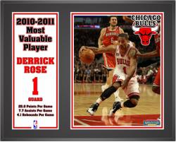 Chicago Bulls Derrick Rose Sublimated 12'' x 15'' Plaque - Mounted Memories