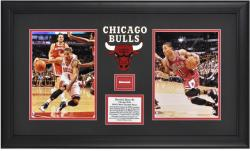 Chicago Bulls Derrick Rose 2011 NBA MVP Framed Photo with Game-Used Net Piece - Mounted Memories