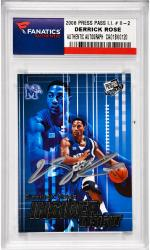 Derrick Rose University of Memphis Autographed 2008 Press Pass Rookie #II-2 Card