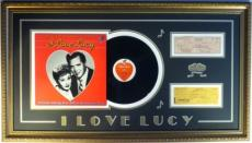 "Desi Arnaz & Lucille Ball Signed ""I Love Lucy"" Authentic Framed Display PSA/DNA"