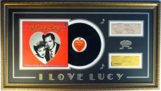 "Desi Arnaz & Lucille Ball Signed ""I Love Lucy"" Authentic Framed Display PSA/DNA"