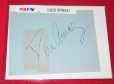 "Desi Arnaz Signed Autographed PSA/DNA 3 x 5 Signature. ""I Love Lucy"