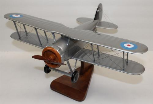 Desktop Model Airplane WWI Avro 504-K Fighter Wood Hand Crafted 23146
