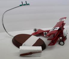 Desktop Model Airplane WWI Fokker Dr1 Red Barron Wood Hand Crafted 23148