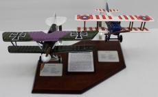 Desktop Model Airplane WWI SPAD XIII & Albatros DVa Wood Hand Crafted 23142