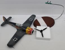 Desktop Model Airplane WWII Focke Wulf FW-190A Wood Hand Crafted 23140