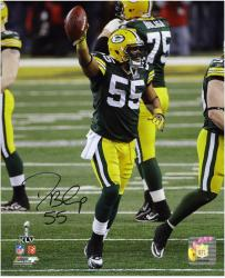 Desmond Bishop Green Bay Packers Super Bowl XLV Autographed 8'' x 10'' Photograph - Mounted Memories