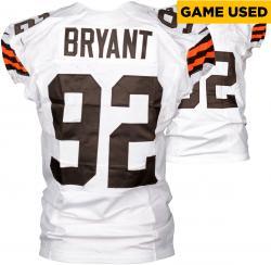 Desmond Bryant Cleveland Browns White Game-Used Jersey November 6, 2014 vs. Cincinnati Bengals