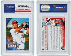 Ian Desmond Washington Nationals Autographed 2010 Topps Card - Mounted Memories