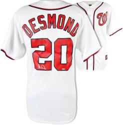 Ian Desmond Washington Nationals Autographed Majestic Home Jersey - Mounted Memories