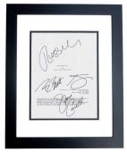 Despicable Me 2 Signed - Autographed Script - Guaranteed to pass PSA or JSA by Steve Carell, Kristen Wiig, Benjamin Bratt, and Russell Brand BLACK CUSTOM FRAME - Guaranteed to pass PSA or JSA