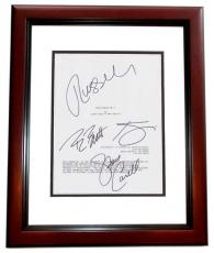 Despicable Me 2 Signed - Autographed Script - Guaranteed to pass PSA or JSA by Steve Carell, Kristen Wiig, Benjamin Bratt, and Russell Brand MAHOGANY CUSTOM FRAME - Guaranteed to pass PSA or JSA