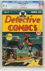 DETECTIVE COMICS #37 CGC 8.5 OWW 2nd Highest Last Goth & Pre Robin #0068601001