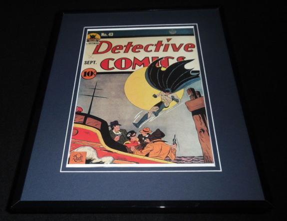 Detective Comics #43 Framed 11x14 Repro Cover Display Batman Robin