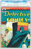 Detective Comics #44 Cgc 9.4 Oww Highest Graded Billy Wright Ped 0916097002