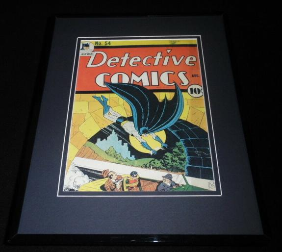 Detective Comics #54 Framed 11x14 Repro Cover Display Batman Robin