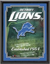 """Detroit Lions Team Logo Sublimated 10.5"""" x 13"""" Plaque"""