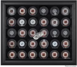 Detroit Red Wings 30-Puck Black Display Case - Mounted Memories