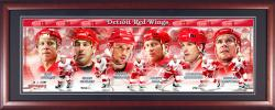 Detroit Red Wings Framed Panoramic Photo - Mounted Memories