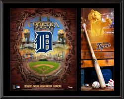 """Detroit Tigers Sublimated 12"""" x 15"""" Team Logo Plaque"""