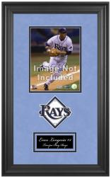 "Tampa Bay Rays Deluxe 8"" x 10"" Team Logo Frame - Mounted Memories"