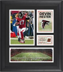 Devin Hester Atlanta Falcons Framed 15'' x 17'' Collage with Game-Used Football