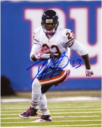 """Devin Hester Chicago Bears Autographed 8"""" x 10"""" Pink Photograph"""