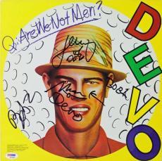 Devo (4) Casale & Mothersbaugh Bros Signed Album Cover W/ Vinyl PSA/DNA #S06460