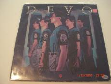Devo All 5 Original Band Members Td/holo Signed Lp Record Album