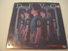 Devo All 5 Original Band Members Td/holo Signed Lp Record Album