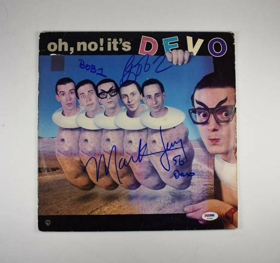 Devo Autographed Signed Album LP Record Certified Authentic PSA/DNA COA AFTAL
