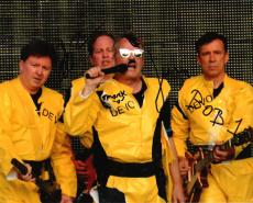 Devo Band Autographed Signed 8x10 Poster Photo Uacc Rd Coa AFTAL
