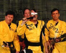 Devo Band Autographed Signed 8x10 Poster Photo Uacc Rd Coa AFTAL