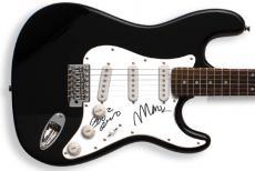 Devo Bob & Mark Autographed Signed Guitar PSA/DNA &Proof   AFTAL
