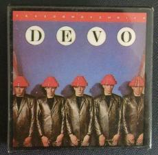 Devo Freedom Of Choice Music Album Cover Vintage Pin Button Rare Authentic B