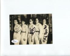 DEVO HAND SIGNED 4x6 GROUP PHOTO     SIGNED BY 4    BOB+MARK MOTHERSBAUGH    JSA