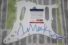 DEVO Mark Mothersbaugh signed Guitar Pickguard, Whip It, New Wave, PSA/DNA, COA