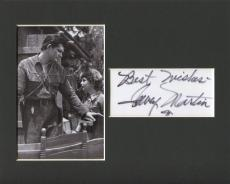 Dewey Martin Daniel Boone Disney World Of Color Signed Autograph Photo Display