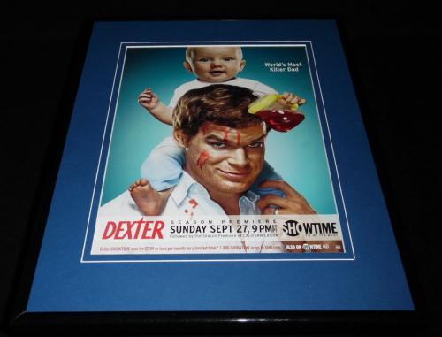 Dexter 2009 Showtime Framed 11x14 ORIGINAL Advertisement Michael C Hall