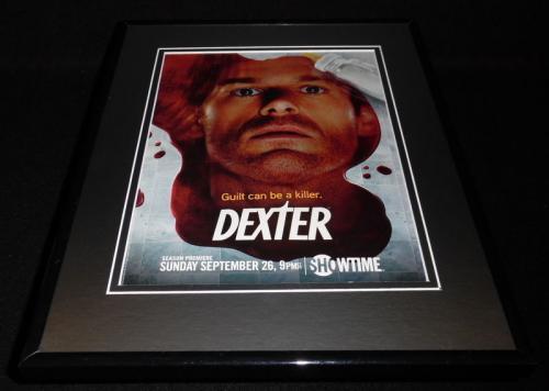 Dexter 2010 Framed 11x14 ORIGINAL Advertisement Michael C. Hall