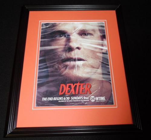 Dexter 2013 Final Season Framed 11x14 ORIGINAL Advertisement Michael C Hall
