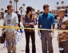 DEXTER Cast Signed 11x14 Photo Michael C Hall Jennifer Carpenter Lee PSA/DNA COA