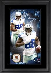 Dez Bryant Dallas Cowboys 10'' x 18'' Vertical Framed Photograph with Piece of Game-Used Football - Limited Edition of 250