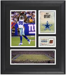 "Dez Bryant Dallas Cowboys Framed 15"" x 17"" Collage with Game-Used Football"