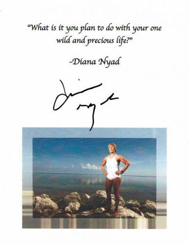 Diana Nyad Signed Autograph Inspirational Mini Poster - Swimming Legend B