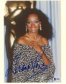 "Diana Ross Autographed 8"" x 10"" Diamond Earings Photograph - BAS COA"