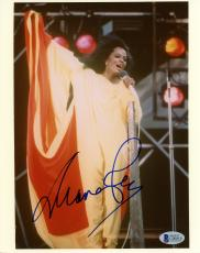 """Diana Ross Autographed 8"""" x 10"""" Singing in Yellow Dress Photograph - BAS COA"""
