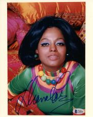 """Diana Ross Autographed 8"""" x 10"""" Wearing Necklace Photograph - BAS COA"""