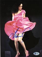 """Diana Ross Autographed 8""""x 10"""" Dancing in Pink Dress Photograph - Beckett COA"""