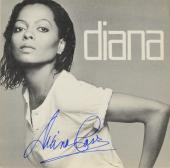 Diana Ross Autographed Diana Album Cover With Blue Ink - PSA/DNA COA